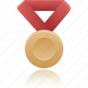 award, bronze, metal, prize, winner icon