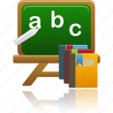 course, courses, education, learning, letters, school, student, study, training icon