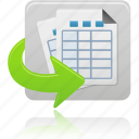 document, documents, file, files, form, generate, sheet, tables icon