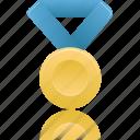 blue, metal, gold, winner, prize, award