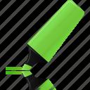 green, highlight, highlightmarker, marker icon