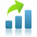 analysis, bar, chart, charts, diagram, graph, increase, report, rise, statistics icon