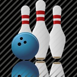 bowling, play, sport, tenpins, throw icon