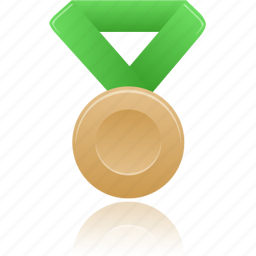 award, bronze, green, metal, prize, winner icon