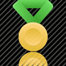 award, gold, green, metal, prize, winner icon
