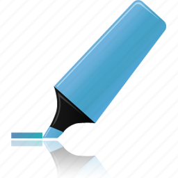 blue, edit, highlight, highlightmarker, marker icon
