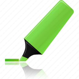 green, highlight, highlightmarker, marker icon