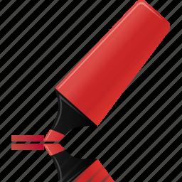 edit, highlightmarker, hightlight, marker, red icon