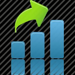 analysis, bar, chart, charts, diagram, graph, increase, report, rise, statistics icon