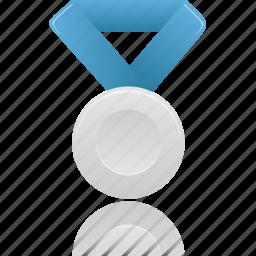 award, blue, metal, prize, reward, silver, winner icon