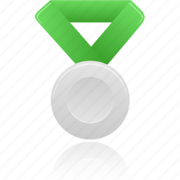 award, green, metal, prize, silver, winner icon