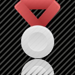 award, medal, metal, prize, silver, winner icon