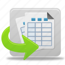 tables, generate, files, documents, reports, file, report, document, text, paper icon