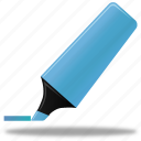 blue, edit, highlight, highlightmarker, marker, pen, pencil, write icon