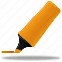 highlightmarker, write, pencil, edit, marker, pen, highlight, writing icon