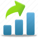 increase, report, data, rise, statistics, bar, diagram, graph, chart, business, charts, finance icon