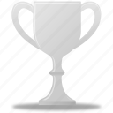 trophy, silver, winner, medal, prize, award icon