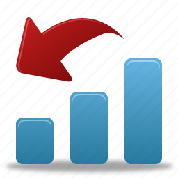 analysis, bar, chart, decrease, diagram, down, graph, increase, report, statistics icon
