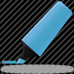 blue, edit, highlight, highlightmarker, marker, pen, pencil, write icon