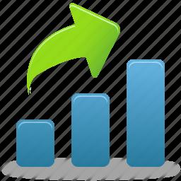 bar, business, chart, charts, data, diagram, finance, graph, increase, report, rise, statistics icon
