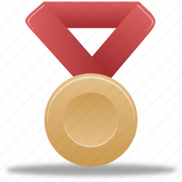 award, bronze, metal, prize, red, reward, winner icon