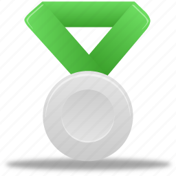 award, green, metal, prize, reward, silver, winner icon