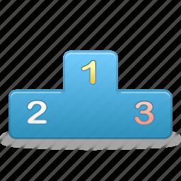 podium, rankings, standings, win, winner icon