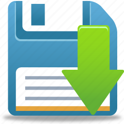 disk, download, downloads, drive, floppy, save icon