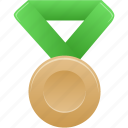 award, bronze, green, metal, prize, sport, winner icon