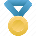 award, blue, gold, metal, prize, winner icon