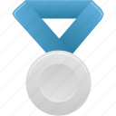 award, blue, metal, prize, silver, winner icon
