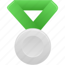 award, green, metal, prize, silver, winner icon