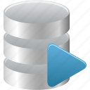 data, database, run, runner, sql icon