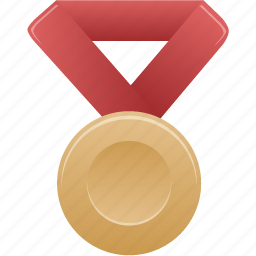 Award Bronze Metal Prize Red Winner Icon