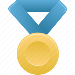 award, blue, gold, metal, prize, winner icon