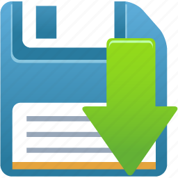 disk, download, downloads, floppy, memory, save icon