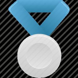 award, blue, metal, prize, silver, winner icon