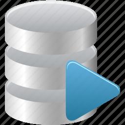 data, database, run, runner, sql icon