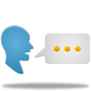chat, speak, talk, translate icon