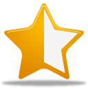 half, rating, star icon