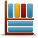 bookcase, library, shelf icon