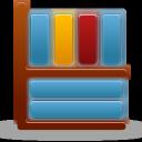 bookcase, library, shelf