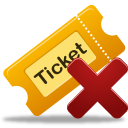 remove, ticket