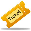 movie, ticket, tix icon