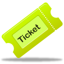 ticket, tix icon