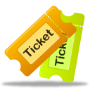 tickets, tix icon