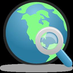 globe, internet, search icon