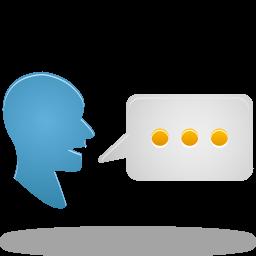 chat, speak, talk, translate icon