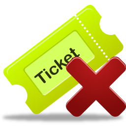 remove, ticket icon