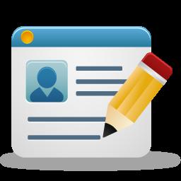 create account, create profile, edit account, edit profile, edit user, sign icon